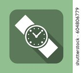 watch icon  flat design style