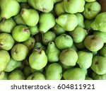 the wholesale pear fruit... | Shutterstock . vector #604811921