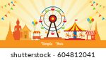 thai temple fair  thailand... | Shutterstock .eps vector #604812041