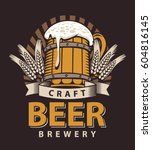 vector logo for a pub or a... | Shutterstock .eps vector #604816145