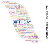 birthday. word collage on white ... | Shutterstock .eps vector #60481795