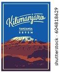 mount kilimanjaro in africa ... | Shutterstock .eps vector #604818629