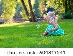 Little Girl Enjoying Nature On...