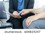 business team concept. close up ... | Shutterstock . vector #604825247