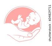 logo of  baby care  family love ...   Shutterstock .eps vector #604829711