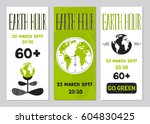 vector set of vertical banner... | Shutterstock .eps vector #604830425