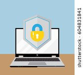 computer security vector... | Shutterstock .eps vector #604831841