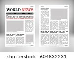 vintage vector newspaper.... | Shutterstock .eps vector #604832231