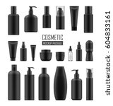 set of realistic black package... | Shutterstock .eps vector #604833161