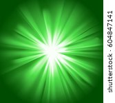 green glowing light. bright... | Shutterstock .eps vector #604847141