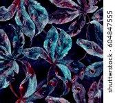watercolor seamless pattern...   Shutterstock . vector #604847555