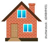 brick house vector | Shutterstock .eps vector #604849451