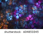 Abstract Exotic Blue  Pink And...