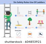 vector safety infographic . six ... | Shutterstock .eps vector #604853921
