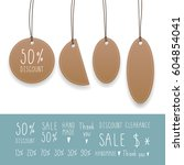 collection of hanging tags with ... | Shutterstock .eps vector #604854041