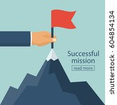 successfull mission. standing... | Shutterstock .eps vector #604854134