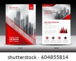 annual report brochure flyer... | Shutterstock .eps vector #604855814