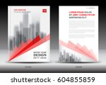 annual report brochure flyer... | Shutterstock .eps vector #604855859