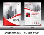 annual report brochure flyer... | Shutterstock .eps vector #604855934