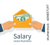give a salary. wages in the... | Shutterstock .eps vector #604857197