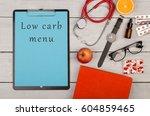 medecine concept   clipboard... | Shutterstock . vector #604859465