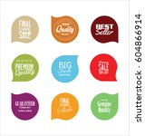 sale stickers and tags... | Shutterstock .eps vector #604866914