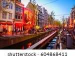 amsterdam  netherlands   may 5  ... | Shutterstock . vector #604868411