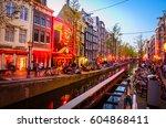 amsterdam  netherlands   may 5  ... | Shutterstock . vector #604868411