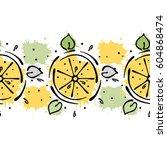vector fruits seamless pattern. ... | Shutterstock .eps vector #604868474