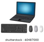 Laptop  Keyboard And Mouse....