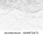 retro styled futuristic... | Shutterstock .eps vector #604872671