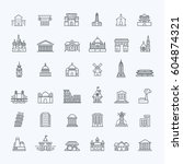 building icons government... | Shutterstock .eps vector #604874321