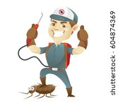 pest control service killing... | Shutterstock .eps vector #604874369