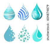 set of blue bright different... | Shutterstock .eps vector #604874879