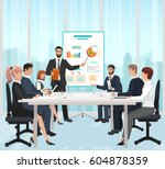 a manager businessman leading... | Shutterstock .eps vector #604878359