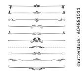 a large set of dividers. vector ... | Shutterstock .eps vector #604881011