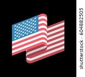 usa flag isolated. america... | Shutterstock .eps vector #604882505
