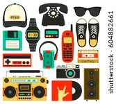vector old style equipments ... | Shutterstock .eps vector #604882661