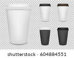 vector realistic blank paper... | Shutterstock .eps vector #604884551