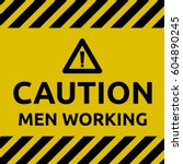 caution man working | Shutterstock .eps vector #604890245