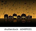 halloween scene with jack o... | Shutterstock . vector #60489031