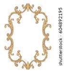 vintage richly decorated frame... | Shutterstock .eps vector #604892195
