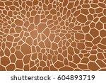 giraffe texture pattern brown... | Shutterstock .eps vector #604893719