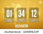 transparent vector countdown... | Shutterstock .eps vector #604896149
