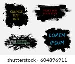 set of abstract grunge artistic ... | Shutterstock .eps vector #604896911