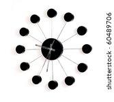 black wall clock on white... | Shutterstock . vector #60489706