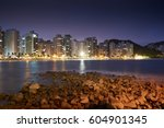 guaruja  asturias beach at... | Shutterstock . vector #604901345