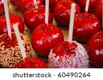 Colorful Candy Apples For Sale...