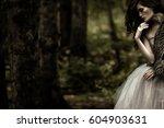 portrait of romantic woman in...   Shutterstock . vector #604903631