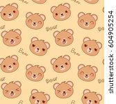 vector seamless pattern with... | Shutterstock .eps vector #604905254